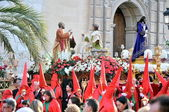 Traditional faith and religious demostration of spain holy week — Stock Photo