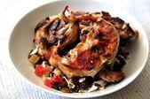 Roast lamb recipe preparation meal food roast meat for celebration — Stock Photo