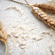 Flour for bakery wheat ingredient nutrition basic element of healthy and diet — Stock Photo #30046717