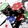 Poker online casino las vegas clasical poker party elements — Stock Photo