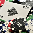 Poker online casino las vegas clasical poker party elements  — Foto de Stock