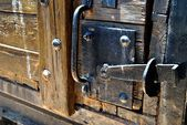 Old door and antique wood — Stock Photo