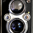Twin lens reflex tlr vintage medium format camera of aged 60 years — Stock Photo #31166221