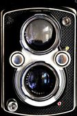 Twin lens reflex tlr vintage medium format camera of aged 60 years — Stock Photo