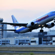 Stock Photo: Aviation airline companies comercial and passanger flights airplanes