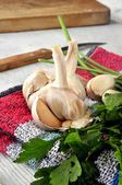 Ingredients for cooking a delicious kitchen elaboration meal — Stock Photo