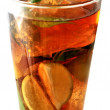 Ice tea fresh elaboration with lemon and mint leafs natural infusion — Stock Photo #31847287
