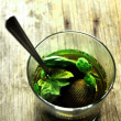 Cinammon tea infusion and mint infusion — Stock Photo