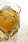Whiskey bourbon destilled liquors cold beverage — Stock Photo