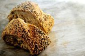 Bread with oats or rye seed corn bread for special diets Complete feed — Stock Photo