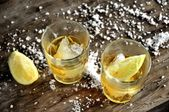 Tequila liquor destillation of agave clasical mexico drink — Stock Photo