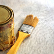 Works of painter for construction and decoration jobs — Stock Photo