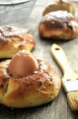 Eggs for celebration of pascua day in eastern europe — Stock Photo