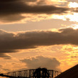 Salt extraction industry at sundown view — Stock Photo #33511063