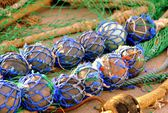 Fish net gear for fisherman's fishing art — Stock Photo