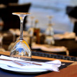 Restaurant interior photo view of a glass — Stock Photo #34813959