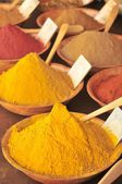 Oriental market sesame curry and culinary ingredients — Stock Photo
