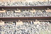 Railway train traveler way transit — Photo
