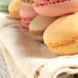 Macaron french elaboration sweet pastry desserts  — Stock Photo