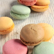 Macaroons sweet sugar delicious pastry elaborations — Stock Photo