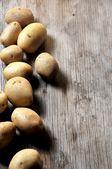 Potatoes from organic green agriculture cultivation — Stock Photo