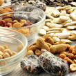 Snacks nuts appetizer selection  — Stock Photo