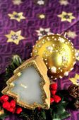Christmas ornaments time celebration new year and xmas time — Stock Photo