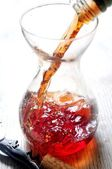 Wine decanting and taste aroma open technique somellier — Stock Photo