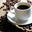 Stock Photo: Coffee backgrounds and coffee cup