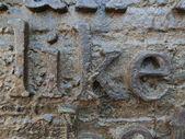 Like word written in metal surface — Stock Photo