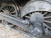 Steam old locomotive mechanism — Stock Photo