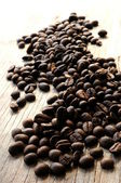 Coffee cup and coffee beans arabiga coffee morning — Stock Photo