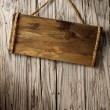 Aged wood signboard - Stock Photo