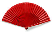 Spanish red fan — Stock Photo