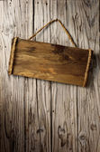 Aged wood signboard — Stock Photo