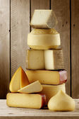 Assorted spanish cheeses — Stock Photo