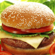 Stock Photo: Cheese burger