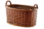 Oval wicker basket — Stock Photo