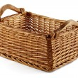 Stock Photo: Square wicker basket