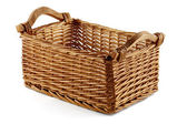 Square wicker basket — Stock Photo