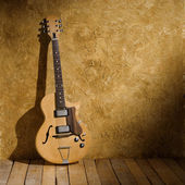 Vintage jazz guitar — Stock Photo