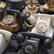 Vintage telephones - Stock Photo
