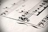 Notação musical — Foto Stock