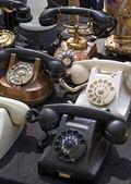 Vintage telephones — Stock Photo