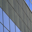 Linear patterns of a building front - Stock Photo
