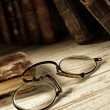 Antique spectacles - Stock Photo