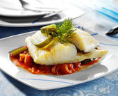 Codfish dish — Stock Photo