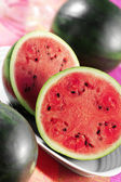 Halved watermelon — Stock Photo