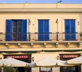 Pizzeria sycylii — Zdjęcie stockowe