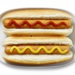 Hot dogs isolated — Stock Photo